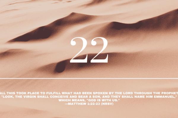 Day 22 | Emmanuel